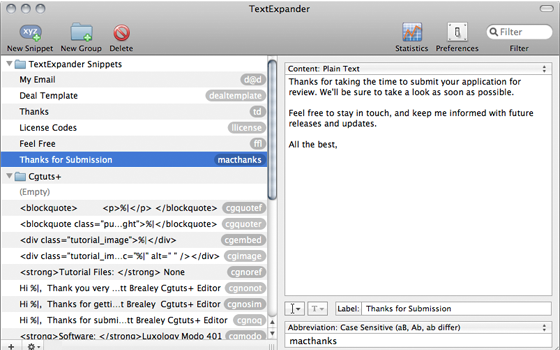 TextExpander